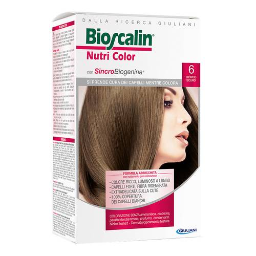 Bioscalin NutriColor Tintura Per Capelli Colore 6 Biondo Scuro - Farmafamily.it