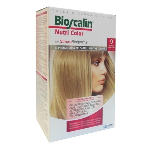BIOSCALIN NUTRICOLOR 9 BIONDO CHIARISSIMO SINCROB 124 ML - Farmafamily.it