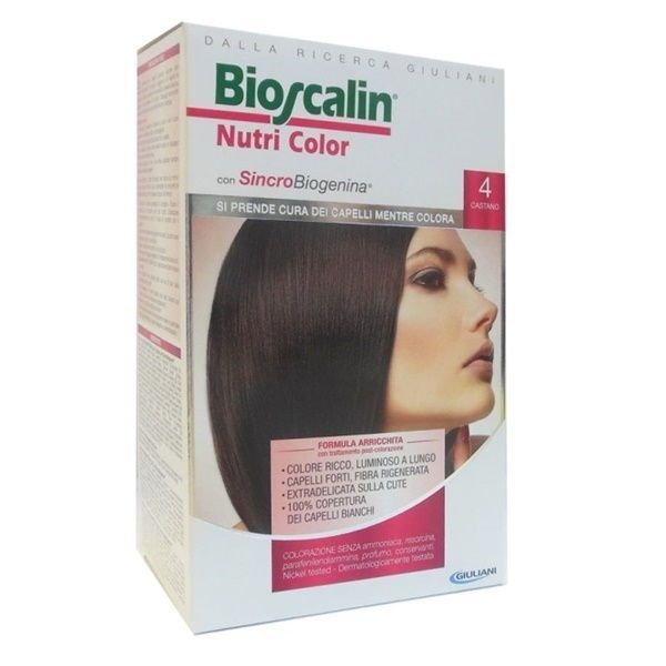 Bioscalin Nutricol Tintura Per Capelli 4 Castano - Farmafamily.it