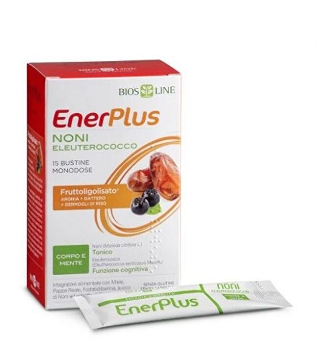 Biosline Enerplus Noni Eleuterocco per la memoria e la funzione cognitiva 15 Bustine Monodose - Farmastar.it