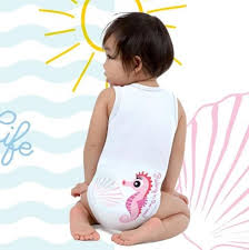 BODY 0-36M BIO COTTON SUMMER SEALIFE CAVALLUCCIO MARINO - Farmawing