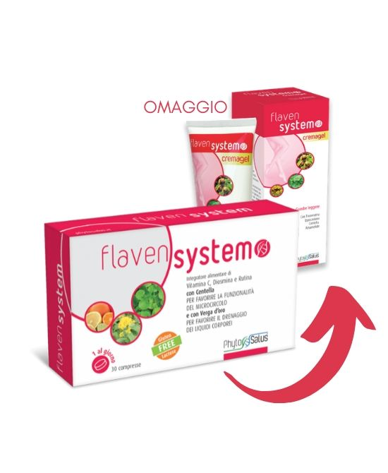 FLAVEN SYSTEM 30 CPR  + CREMA GEL 100 ML OMAGGIO - Farmapage.it