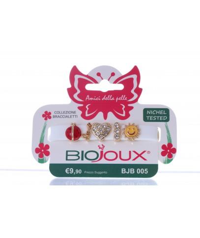Braccialetto Biojoux 005 in Silicone con Charms di Metallo White - Arcafarma.it
