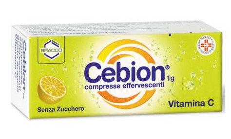 Cebion 1g Vitamina C Arancia Senza Zucchero 10 Compresse Effervescenti - Farmaconvenienza.it