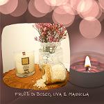 Candela Profumata Frutti di Bosco, Uva e Magnolia - Parafarmacia la Fattoria della Salute S.n.c. di Delfini Dott.ssa Giulia e Marra Dott.ssa Michela