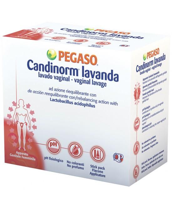 CANDINORM LAVANDA VAGINALE 4 FLACONE 10 ML + 4 STICK PACK MONODOSE 1,5 G + 4 APPLICATORI STERILI MONOUSO - Farmacia Castel del Monte