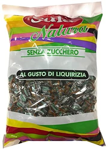 Caramelle Liquirizia senza Zucchero 1kg - Sempredisponibile.it