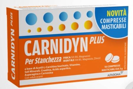 CARNIDYN PLUS 18CRP MASTICABILI - farmaciadeglispeziali.it