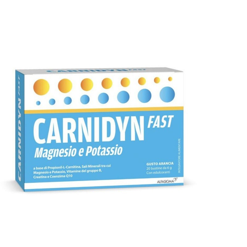 Carnidyn Fast Magnesio e Potassio 20 Bustine - FARMAPRIME