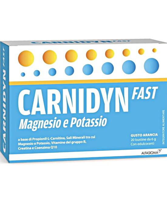 Carnidyn Fast Magnesio e Potassio 20 Bustine - Farmaci.me