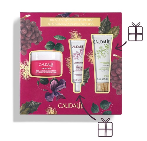 "Caudalie Cofanetto ""Trio S.O.S Idratazione Intensa"" Idea Regalo - Farmastar.it"