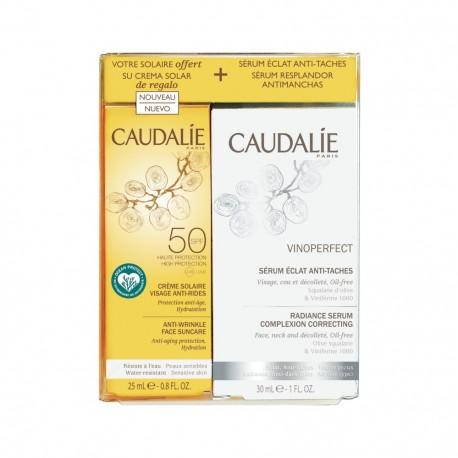 CAUDALIE COFANETTO SIERO VINOPERFECT 30 ML + SOLARE SPF50 25 ML - Farmacia Castel del Monte
