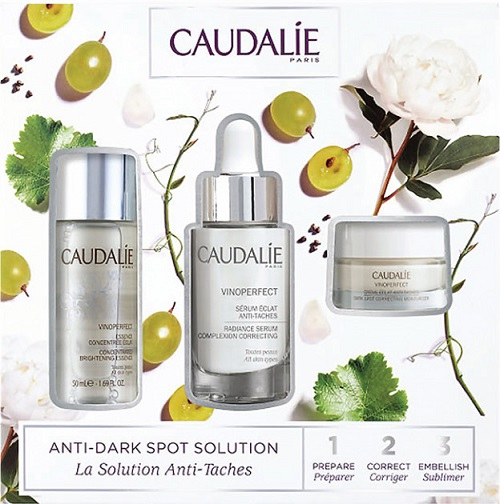 Caudalie Cofanetto Vinoperfect: Siero Anti Macchie 30 ml + Crema Anti Macchie 15 ml e Essenza Concentrata Illuminante 50 ml IN OMAGGIO - Farmastar.it