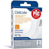 CEROTTO DELICATE STRISCIA ANTIBATTERICA 8 X 100 CM 1 PEZZO - farmaciafalquigolfoparadiso.it