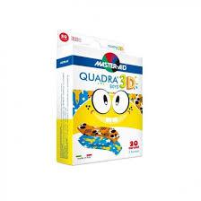 CEROTTO MASTER-AID QUADRA 3D BOYS 20 PEZZI ASSORTITI - farmaciafalquigolfoparadiso.it