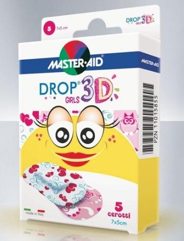 Master-Aid Quadra 3D Cerotto Girls 20 Pezzi Assortiti - Farmalilla