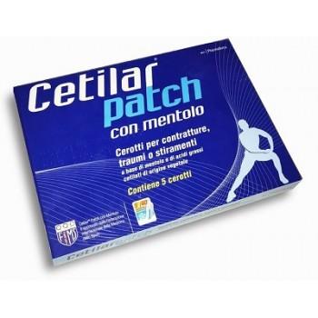 CEROTTO MONOUSO CETILAR PATCH CON MENTOLO 5 PEZZI - Zfarmacia