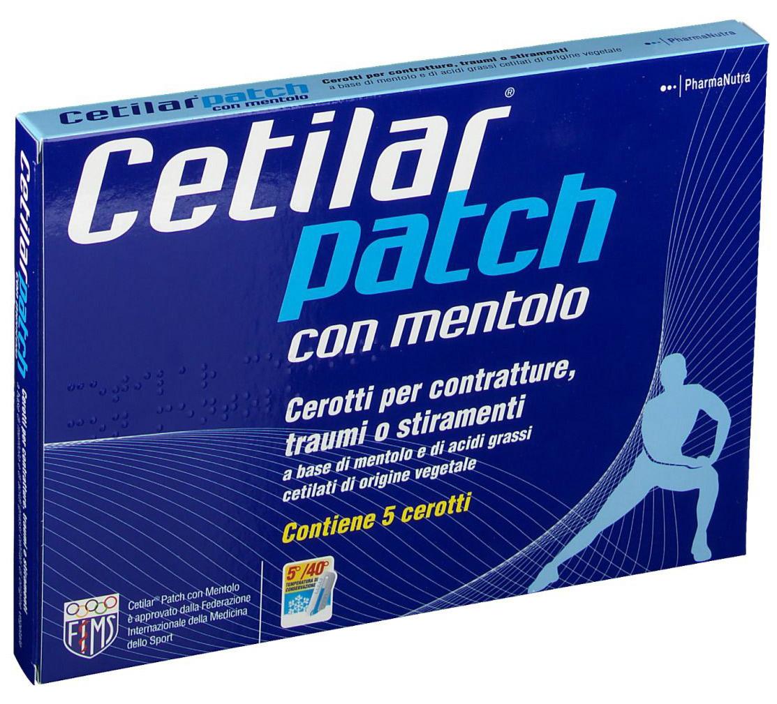CEROTTO MONOUSO CETILAR PATCH CON MENTOLO 5 PEZZI - Farmacia Centrale Dr. Monteleone Adriano