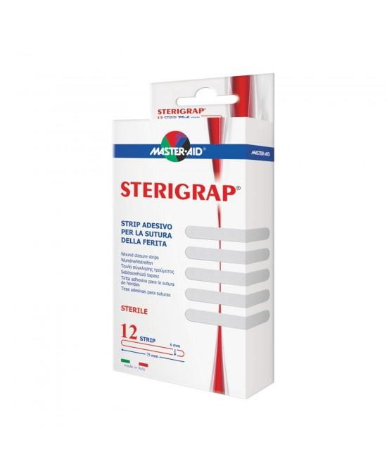 MASTER-AID STERIGRAP STRIP PER SUTURA 7,5X0,6 12 PEZZI - Farmapage.it