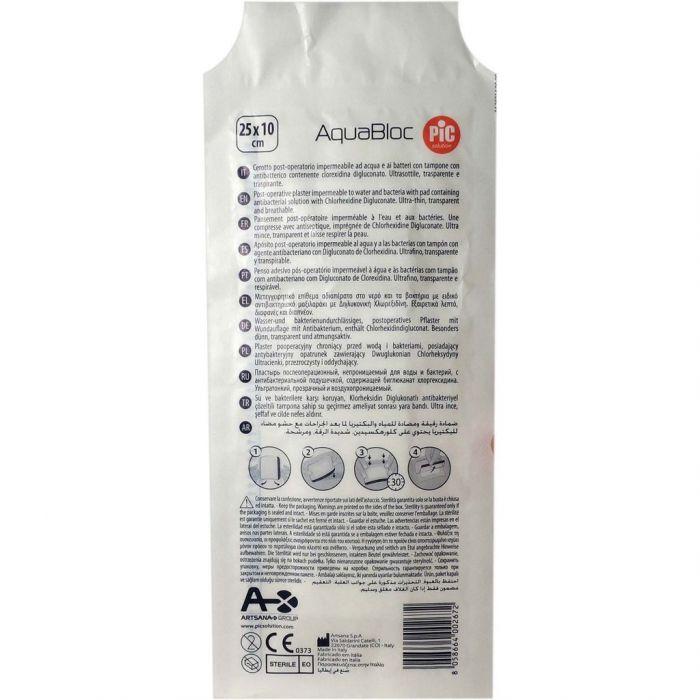 CEROTTO PIC AQUABLOC STERILE 10X25 CM ANTIBATTERICO 1 PEZZO - sapofarma.it