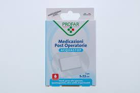 ACQUASTOP MEDICAZIONE POST OPERATORIA 5X7,5 CM PROFAR MED 5 PEZZI - FarmaHub.it
