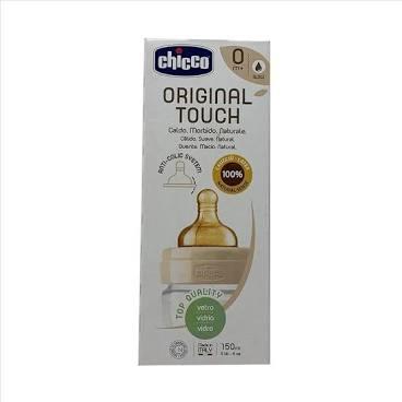 CHICCO BIBERON ORIGINAL 150ML VETRO 1 FORO 1 FORO UNISEX CON TETTARELLA IN CAUCCIU' - Farmacia Giotti