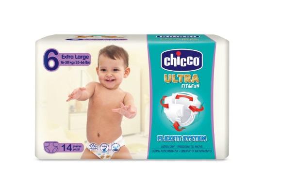 CHICCO PANNOLINO ULTRA XL 14 PEZZI - Farmafamily.it