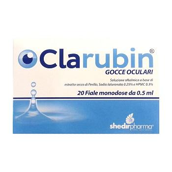 CLARUBIN GOCCE OCULARI 20 FIALE MONODOSE - Parafarmacia la Fattoria della Salute S.n.c. di Delfini Dott.ssa Giulia e Marra Dott.ssa Michela