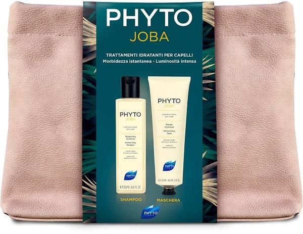 Phyto Cofanetto Regalo PhytoJoba  Shampoo 250 ml +Phytojojoba Maschera Capelli 150 mlTrattamento Idratante + Trousse  - Farmastar.it