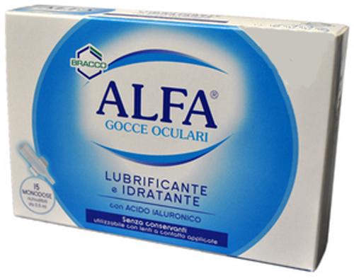 COLLIRIO ALFA LUBRIFICANTE/IDRATANTE 15 FIALE MONODOSE - Farmacia Centrale Dr. Monteleone Adriano