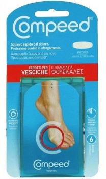 COMPEED VESCICHE CEROTTI FORMATO SMALL 6 PEZZI - Farmastar.it