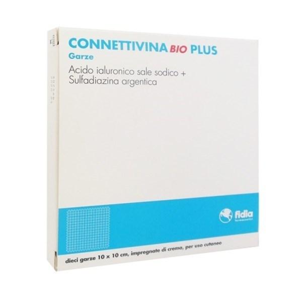 Connettivina Bio Plus Garza 10 cm x 10 cm 10 Pezzi - Farmalilla