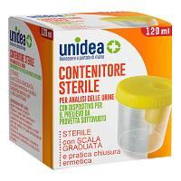CONTENITORE STERILE PER ANALISI DELLE URINE UNIDEA 120 ML - Farmaciasconti.it