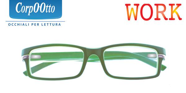 Corpootto Occhiale da Lettura Modello Work Verde +3,00 Diottrie - Farmalilla