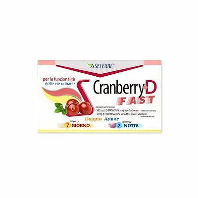 CRANBERRY FAST RESOLUTION 7 cpr GIORNO + 7 cpr NOTTE - Farmapage.it