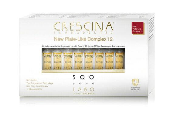 CRESCINA RI-CRESCITA PLATE-LIKE COMPLEX 12 500 UOMO 20 FIALE 3,5 ML - Farmaedo.it
