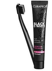 Curaprox Black is White Dentifricio 90ml + Spazzolino Ultra Soft