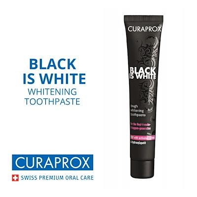 CURAPROX BLACK IS WHITE DENTIFRICIO TRAVEL SIZE 10 ML - Parafarmacia la Fattoria della Salute S.n.c. di Delfini Dott.ssa Giulia e Marra Dott.ssa Michela