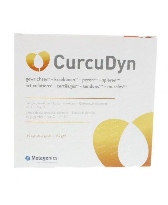 CurcuDyn Integratore a base di curcuma per articolazioni Metagenics 180 Compresse - Farmastar.it