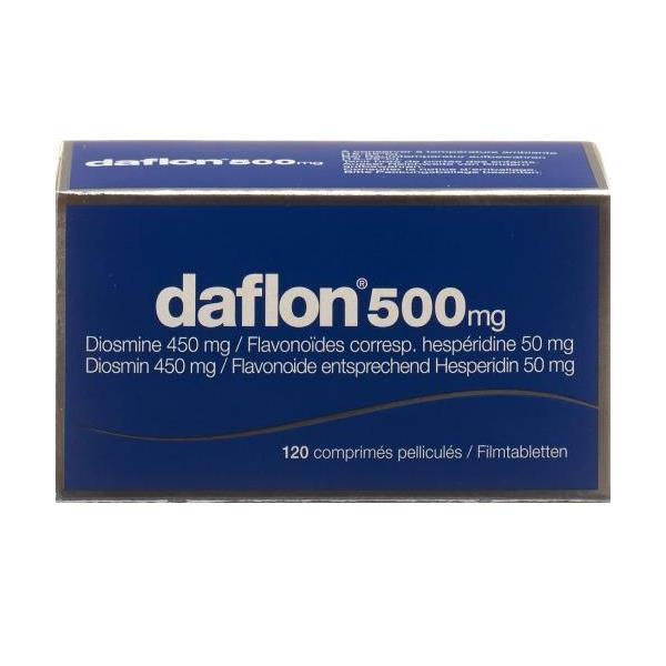 Daflon 500mg 120 Compresse Rivestite - Arcafarma.it