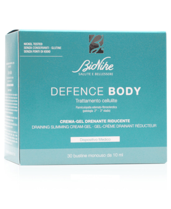 DEFENCE BODY TRATTAMENTO CELLULITE CREMA GEL DRENANTE RIDUCENTE 30 BUSTINE DA 10 ML - Farmaci.me