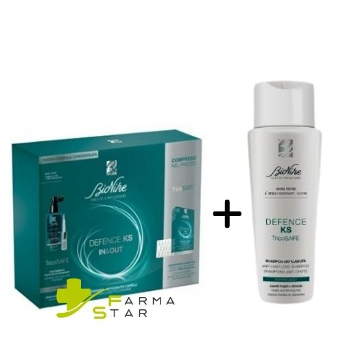 Trattamento Anticaduta Bionike Defence Capelli KS Lozione 100 ml + Integratore 30 Compresse + Shampoo Anticaduta 200 ml - Farmastar.it