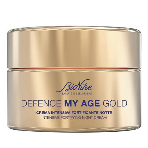 Defence My Age Gold Crema Intensiva Fortificante Notte 50 ml + Defence My Age Siero Rinnovatore Contorno Occhi e Labbra 15 ml Bionike IN OMAGGIO - Farmastar.it