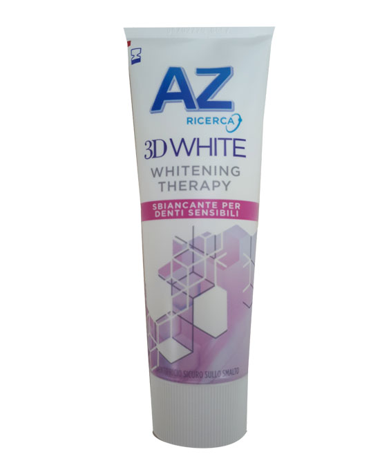 DENTIFRICIO AZ 3D WHITE THERAPY DENTI SENSIBILI 75 ML - latuafarmaciaonline.it