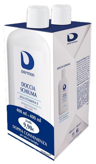 DERMON BIPACCO DOCCIASCHIUMA VITAMINA E 400 ML + 400 ML - Farmacia Centrale Dr. Monteleone Adriano