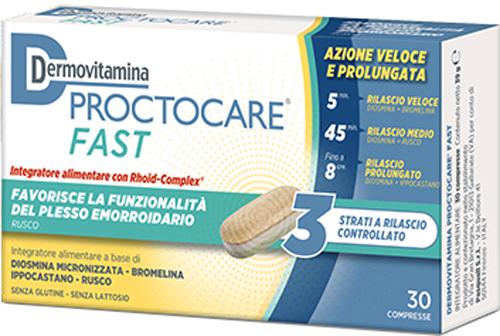 DERMOVITAMINA PROCTOCARE FAST 30 COMPRESSE - Farmacia Centrale Dr. Monteleone Adriano
