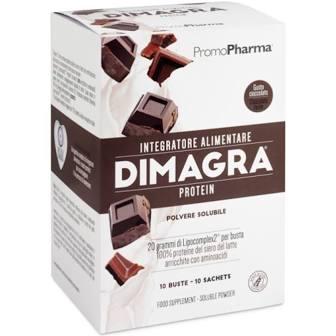 DIMAGRA PROTEIN CIOCCOLATO 10 BUSTE - Farmacia Giotti