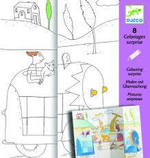 Djeco Coloriages Surprise Cache-Cache - Farmalilla