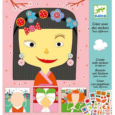 Djeco - Creare con gli Stickers - Farmalilla