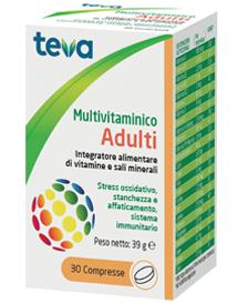 DONAZIONE MULTIVITAMINICO ADULTI TEVA 30 COMPRESSE 30 G - Farmaci.me
